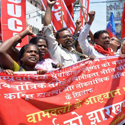 Jharkhand Bandh :: Protest by CPI (M)