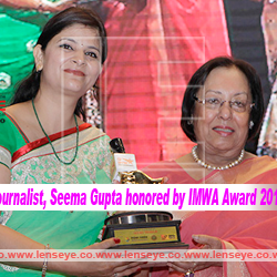 Female photojournalist, Seema Gupta honored by IMWA Award 2016