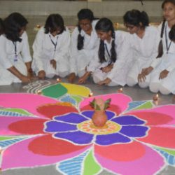 Diwali celebration and Inter House Rangoli making competition at Oxford