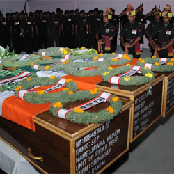 Floral tribute to Slain Army Jawans
