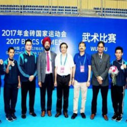 Indian Wushu Team won 2 Gold 2 Silver and 2 Bronze medals in Brics Games at Guangzhou, China.