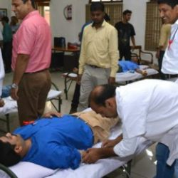 Voluntary Blood Donation Camp at White Hall, High Court of Jharkhand.