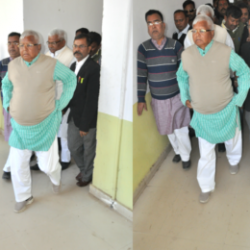 Rjd chief Lalu Prasad Yadav at CBI special court in Ranchi