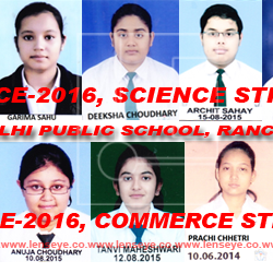 Delhi Public School. Ranchi : Highlights of the AISSCE-2016