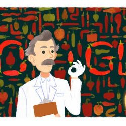Google celebrates birthday of Wilbur Scoville [who created the famous scoville test ] with a animated Doodle