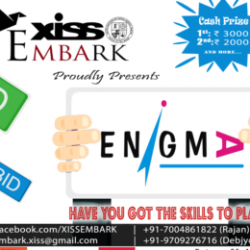 """""""ENIGMA"""" on25th November2017 at XISS, Ranchi."""