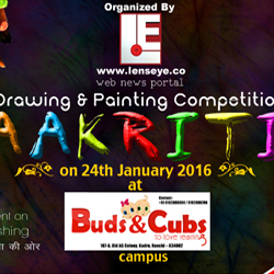 """Aakriti"", a Drawing & Painting competition on 24th of January 2016 in Buds & Cubs School, Ranchi."