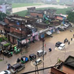 Heavy downpour affected Normal life in Ranchi.