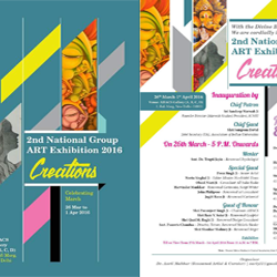 Creations :: The 2nd National Group Art Exhibition 2016 from 26th to 1st of April 2016 in New Delhi.