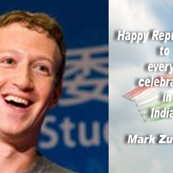 Happy Republic Day to everyone celebrating in India : Mark