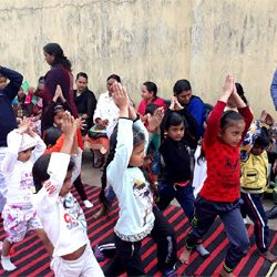 Yoga on occassion of Republic Day