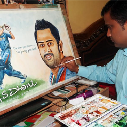 M.S. Dhoni : The Untold Story in Painting format