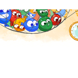 An animated Doodle globally for the new years eve day 2016 by Google
