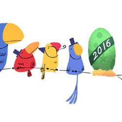 Google's New Year's eve animated doodle makes every one curious, what will hatch on January 01, 2016.