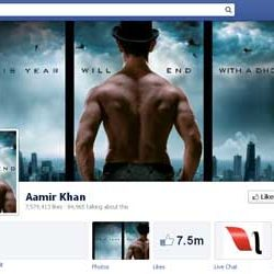 Seven Million + likes for Aamir Khan's Facebook page.