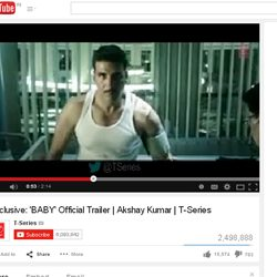 Official Trailer of 'BABY' on You Tube.