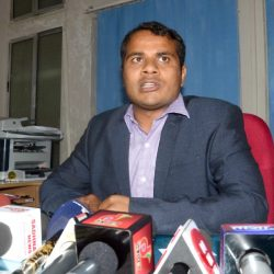 Newly appointed Excise Commissioner Bhor Singh Yadav addresses media persons :: Issued a24×7 toll free number
