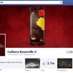 Three Million + likes for Cadbury Bournville's Facebook page.