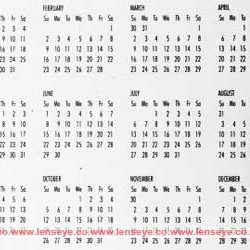 "Calender of 2014 will be similar to 1947 : ""Happy Clone Calender""."