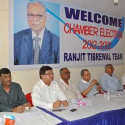 Meeting by Ranjit Tibrewal Team for Chamber Election-2012.