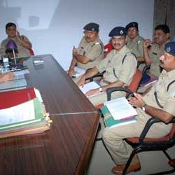 DIG, Sampat Meena along with other police official in a meet.