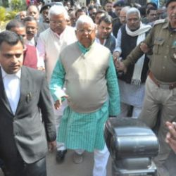 Lalu prasad yadav at CBI special court, Ranchi
