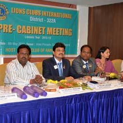 Pre Cabinet Meeting of Lions Clubs International District 322A