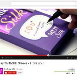 """""""Say It With Silk Sleeve – I love you"""", Video of Cadbury Silk Released on You Tube."""