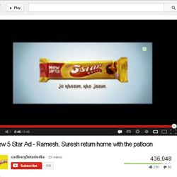 """""""New 5 Star Ad – Ramesh, Suresh return home with the patloon"""", on You Tube."""