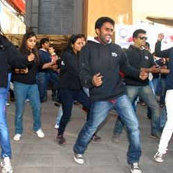 Flash Mob by Students of IIM-Ranchi for 3rd ODI, India Vs England at Ranchi .