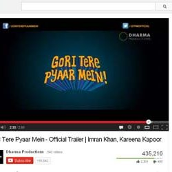 """Official Trailer of """"Gori Tere Pyaar Mein"""",  Released on You Tube."""