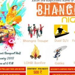 Bhangra Night on 12th of January 2018 in Celebrations banquet Hall, Ranchi.