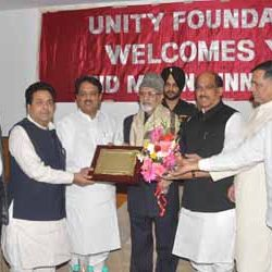 UNION MINISTER VILASRAO DESHMUKH FELICITATED DR.SAYYED AHMED GOVERNOR OF JHARKHAND IN MUMBAI