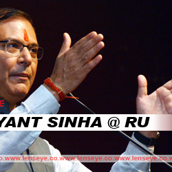 Union Minister of State for Civil Aviation Jayant Sinha @ RU