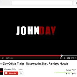 """Official Trailer of """"John Day"""" Released in You Tube."""