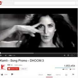 "Song Promo ""Kamli"",  from Upcoming Hindi movie ""DHOOM:3"" Released on You Tube."