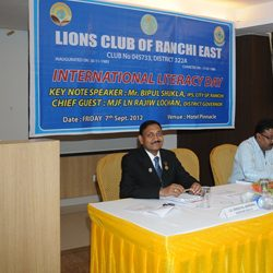 International Literacy Day by Lions Club of Ranchi East.