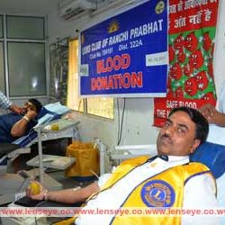 Blood Donation Camp by Lions Club of Ranchi Prabhat.