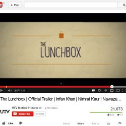 """Official Trailer of """"The Lunchbox"""",  Released on You Tube."""