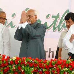 Inauguration of 17th Biennial of National Union of Journalists by Vice President Hamid Ansari.