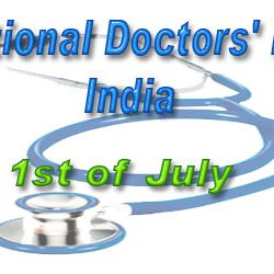 National Doctors' Day : India :: 1st of July.