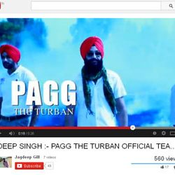 "Official  Teaser ""PAGG THE TURBAN"", Released on You Tube."