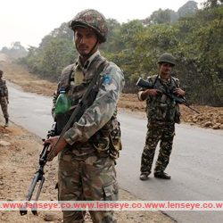 Patrolling by Paramilitary Forces at a Maoists affected areas