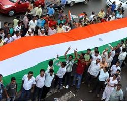 51 meter of Tri Colour in support of Anna