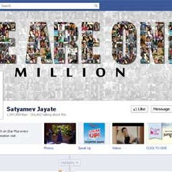 One Million + likes for Satyamev Jayate, Facebook Page