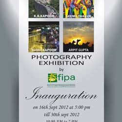 Photography Exhibition ' Eyewitness ' by Fourm of Indian Photographers & Artists [ FIPA ] in Delhi from16th to 30th of Sept 2012.