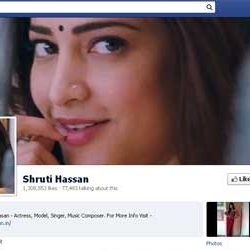 One Million + likes for Shruti Hassan's Facebook page.