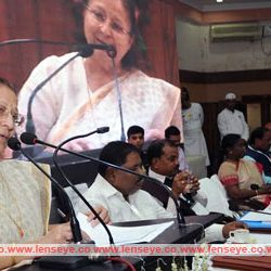 Lok Sabha Speaker Sumitra Mahajan addresses a workshop on 'Principle and Practices in Parliamentary Democracy and Management of Public Finance'.