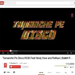 """Song """"Tamanche Pe Disco"""", of Bollywood Film """"Bullett Raja"""" Released on You Tube."""