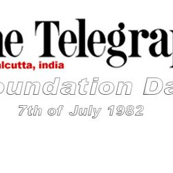 Foundation Day of The Telegraph (Calcutta) :: 7th of July 1982.